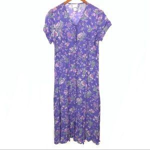 April Cornell | VTG Sheer Floral Button Dress Sz M